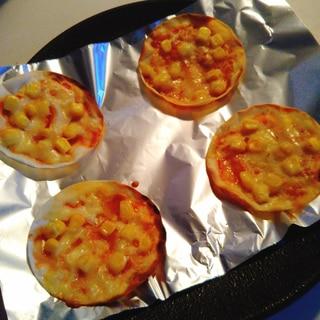 魚焼きグリルで簡単☆餃子のピザ