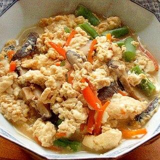 早い!ノンオイル❤木綿豆腐の煮物♪(干し椎茸ほか)