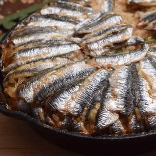 トルコ料理★スキレットで作るイワシのピラフ