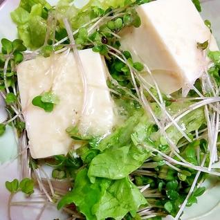 豆腐とレタスのフレンチサラダ