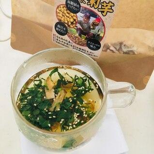 コリコリ食感が美味しい即席菊芋スープ