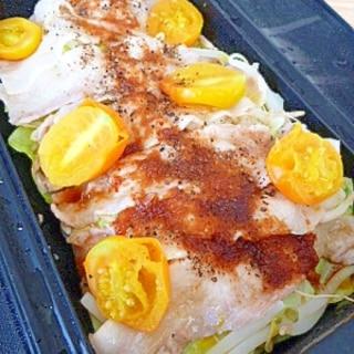 ルクエで簡単!豚バラ蒸し野菜☆おろしポン酢がけ