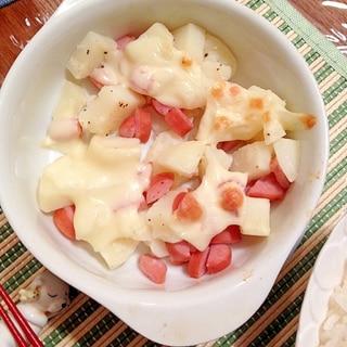 とっても簡単!ソーセージとジャガイモのチーズ焼き