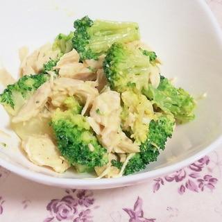 レンジで簡単作りおき!ブロッコリーとササミのサラダ