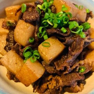 牛肉とこんにゃくの炒り煮