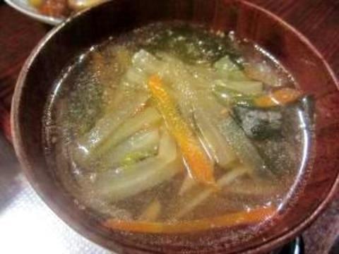 しょうがたっぷり 中華スープ