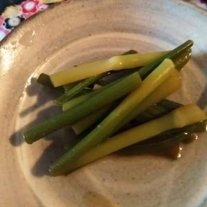常備菜感覚♪にんにくの芽の醤油漬