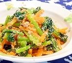 小松菜とにんじんの明太子炒め
