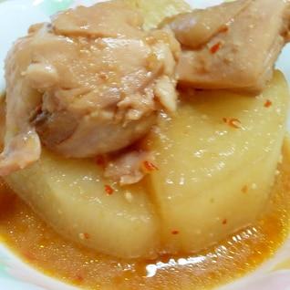 鶏と大根の辛口煮