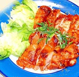 韓国風の鶏の照り焼き