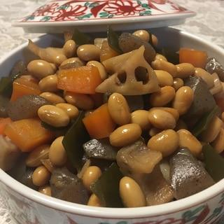 具だくさんな★大豆の煮物★