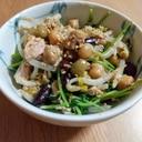 【レンジで簡単】もやしと豆苗のツナサラダ