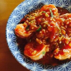 15分で簡単★中華料理屋さん風エビチリ
