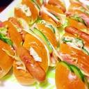 ホットドッグ用のパンで簡単豪華に見えるサンドイッチ