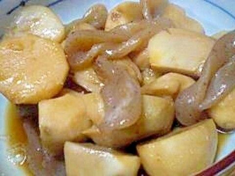 ホクホクねっとり里芋が美味「里芋とこんにゃくの煮物
