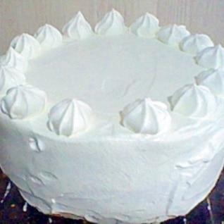 冷凍イチゴでショートケーキ