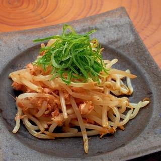 ピリリと美味しい簡単副菜!もやしとツナのラー油風味