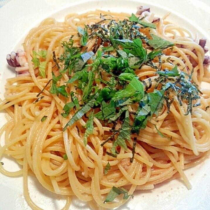 スパゲティの素で☆たらこ豆乳クリームスパゲティ
