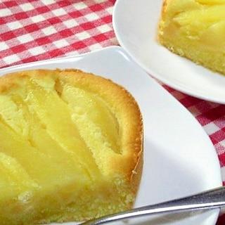洋梨の缶詰で簡単ケーキ