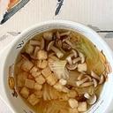 白菜、ブナシメジのスープ
