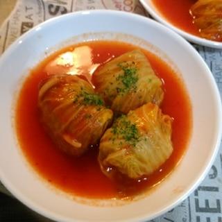 白菜ロール★トマトジュース煮込み