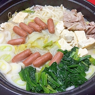 豚肉と野菜たっぷりごま豆乳鍋