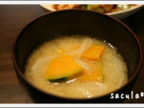 南瓜と玉ねぎのお味噌汁