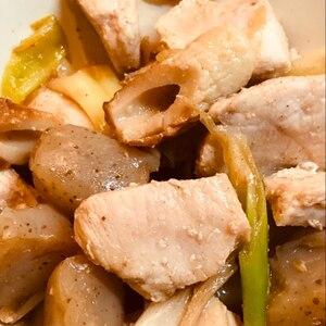 夏のおかずに!鶏肉とちくわとこんやくの甘酢煮