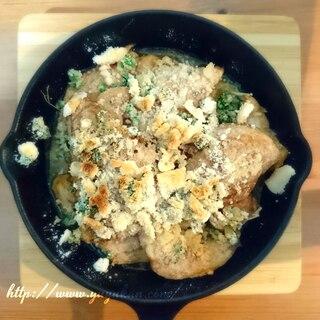 スキレット★白身魚のパン粉焼き