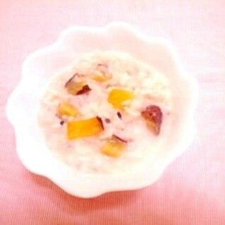干し芋の豆乳粥