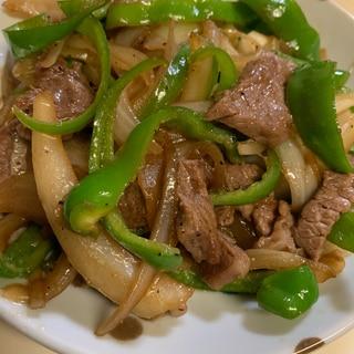 牛バラ肉とたっぷり野菜の炒め物