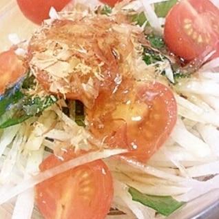 トマトと大根わかめの和風サラダ