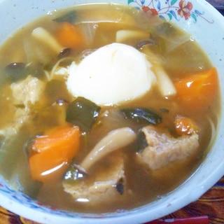 野菜たっぷり☆温玉つくね温麺