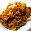 キャベツと豚肉の焼き肉トンカツソース炒め