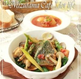 ●鯛のアクアパッツァ♪魚介からの旨みを煮詰めて♪