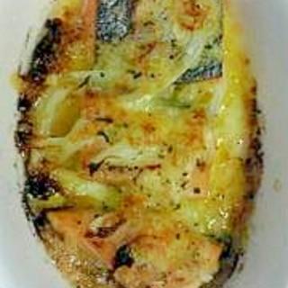 トースターで鮭のチーズ焼き