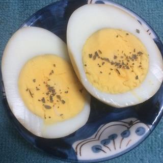 バジルで♪イタリアン味付け卵