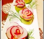 マッシュポテトとラディッシュの薔薇で〜おもてなし