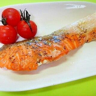 生鮭のバジル焼き