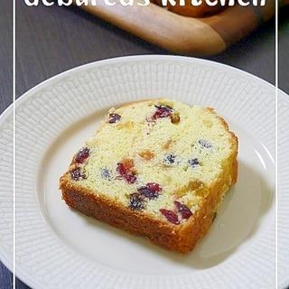 ラム酒漬け*ドライフルーツパウンドケーキ*