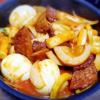 さつま揚げと玉ねぎのトッポッキ★ 餅の甘辛煮♪