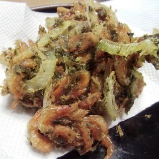 桜海老と茶殻のかき揚げ