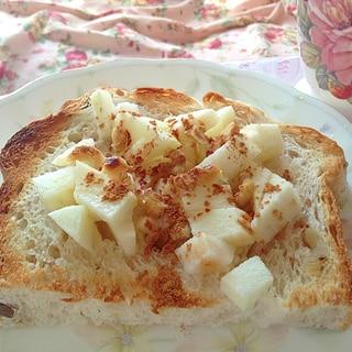 アップルパイ風♡蜂蜜リンゴトースト