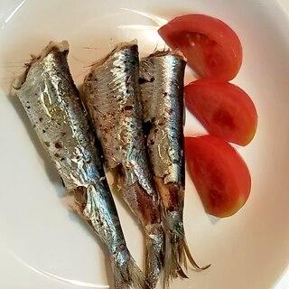 トマトとお好きな焼き魚