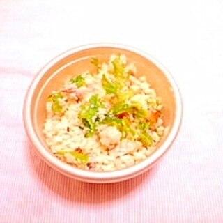 梅風味♪わさび菜と竹輪のおからサラダ