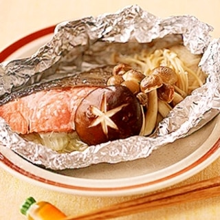 旨味たっぷり鮭のホイル焼き