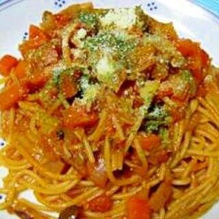 アレンジ!ミネストローネdeトマトパスタ