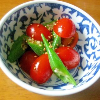 オクラとミニトマトのサラダ♪