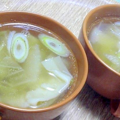 市販のワンタンを使った簡単中華スープ
