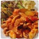 ズッキーニと鶏もも肉のトマト煮込み